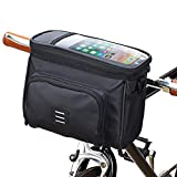 MOOCi Bicycle Handlebar Bag Front Bag Folding Bicycle Electric Frame Bag, Touchable Transparent Mobile Phone Bag Bicycle Basket Bag Bicycle Accessories