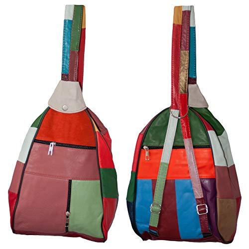 Dazoriginal Donna Borse a Tracolla Pelle Crossbody Bag Hobo Mano Borsa a Spalla (Multicolore)