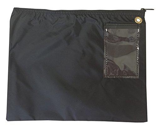 Interoffice Mailer 200 Denier Transit Sack Zipper Bag Black (14x11)