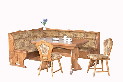 European Dining Furniture Set, Breakfast Nook Bench Made from Oak, 4 Piece Corner Dining Set, Enjoy The Best Breakfast Nook Table Set, Luxury Breakfast Nook Cushions. Bruck Breakfast Nook