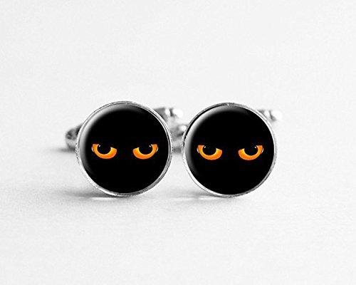 Gemelos ojo de gato, gemelos geek, gemelos de hipster, regalo para hombres,...