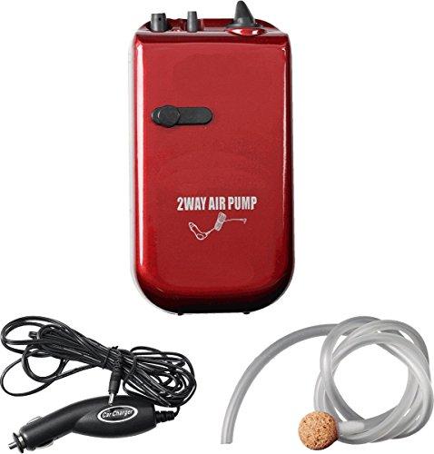 Sauerstoffpumpe - 2-Gang - 1,5 / 12 V - Batteriebetrieb - Autobetrieb - mit Adapter für Zigarettenanzünder