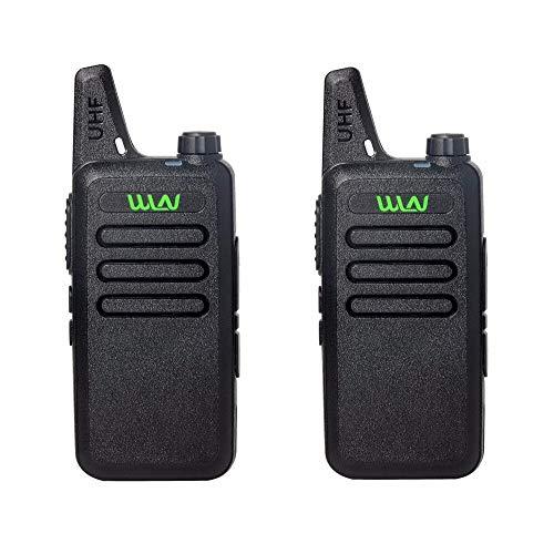 AMZSELLER Walkie Talkie 2pcs Mini Transceptor de Mano Twoy Way Radio Communicator Radio Station Walkie Talkie (Color : Black)