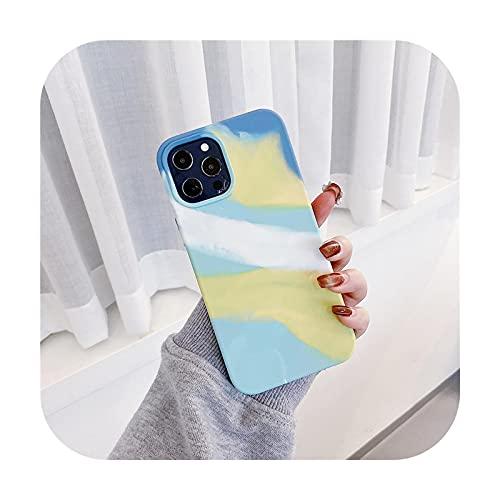 Pintura al óleo del arte caja del teléfono del silicón suave para el iPhone 12 11 Pro Max XS Max X 12 Mini XR 12 Pro 7 8 Plus SE2020 contraportada Fundas-61-Para el iphone 12mini