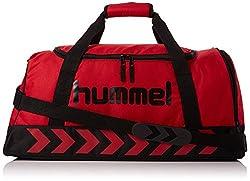 Hummel Authentic Sports Bag Sports Bag, Size: S, Green (Dark Slate / Green Flash), 50x27x23cm, 23 Liter