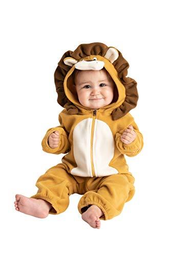 Cuddle Club Mono Polar Bebé para Recién Nacidos a Niños 4 Años - Pijamas Infantiles Chaqueta de Invierno Abrigo Polar Niño Mono de Niños - LionBrown18-24m