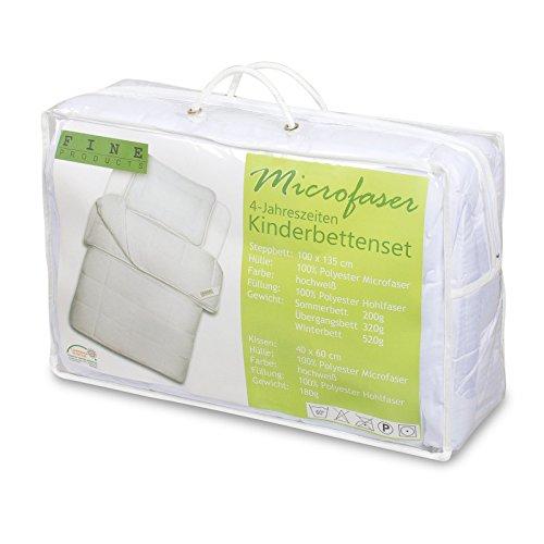 Julido 4-Jahreszeiten Kinderbetten-Set 100x135 + 40x60 in praktischer Tasche