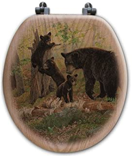WGI-GALLERY TS-R-PT Playtime Bears Round Toilet Seat