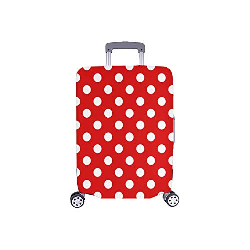 """InterestPrint Girly Fashion Polka Dots Travel Luggage Cover Baggage Suitcase Protector for 26""""-28"""" Luggage"""