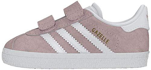 adidas Jungen Unisex Kinder Gazelle Cf I Niedrige Hausschuhe, Pink (Roshel/Ftwbla/Ftwbla 000), 19 EU