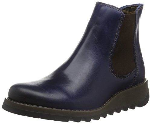 Fly London Damen Salv Chelsea Boots, Blau (Blue 019), 38