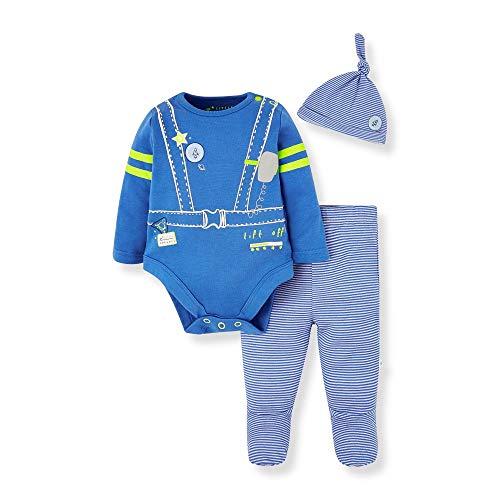 Mothercare Io Io B L Space Novelty 3pc Set Body, Nero (Bright Blue 478), 9-12 Months (Manufacturer Size:80) Unisex-Bimbi