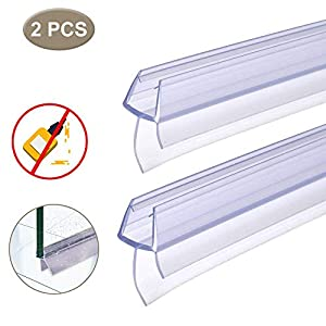 Home Standard® - Sello para mampara de ducha (grosor de cristal de 4 a 6 mm, longitud de ala 12 mm, hueco para sellar de 10 a 12 mm): Amazon.es: Bricolaje y herramientas