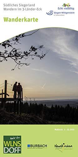 Wanderkarte Südliches Siegerland: Wandern im 3-Länder-Eck