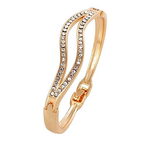 DMUEZW merk Klassiek Goud Legering Brede grote manchet Armband Voor vrouwen Sieraden Vintage punk Elegante Maxi Crystal Armbanden & Bangles