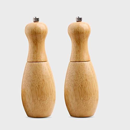 Salz & Pfeffer Mühle, Salz- & Pfeffermühle Holzmühlen Gewürzmühlen Handschüttler Cruet Strong Adjustable Ceramic Core 2 Pack, Salz- &