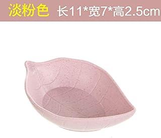 Plato de salsa de cerámica creativa Vajilla japonesa salsa de vinagre condimentos encurtidos plato de vinagre plato de plato pequeño plato de salsa de plato de hueso,hojas de color rosa pálido