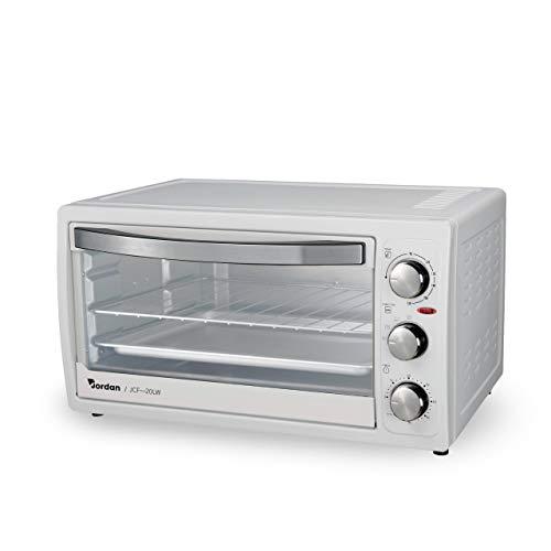 Forno elettrico 1300W, Capienza 20L, Colore Bianco, Temperatura Regolabile 230°, Inclusi Vassoio e Griglia con Impugnatura Removibile