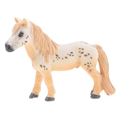 MagiDeal Juguete Realista Figura de Animales Salvajes de Imitación Plástico Modelo de Caballo/Bulldog/Avestrez/Cocodrillo - Caballo a