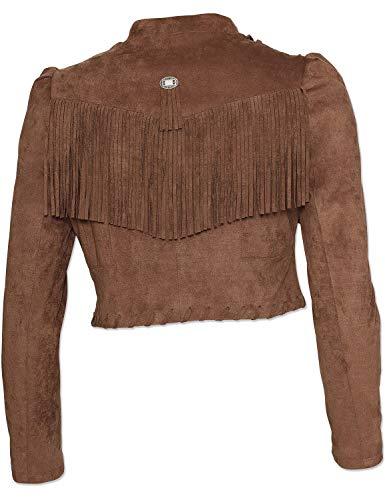 STARS & STRIPES Jacke Wildlederoptik Damenjacke Westernjacke Cowgirl Country Western Westernstyle »Carmen« Gr.M