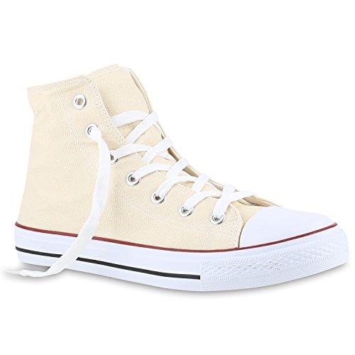 stiefelparadies Herren Schuhe 140045 Sneakers Creme 45 Flandell