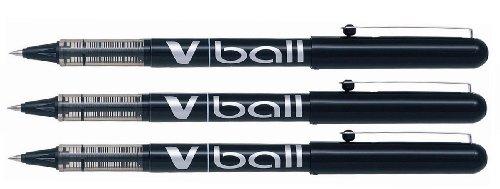 Pilot V-Ball 0.5, tinta líquida unidades 3–Negro