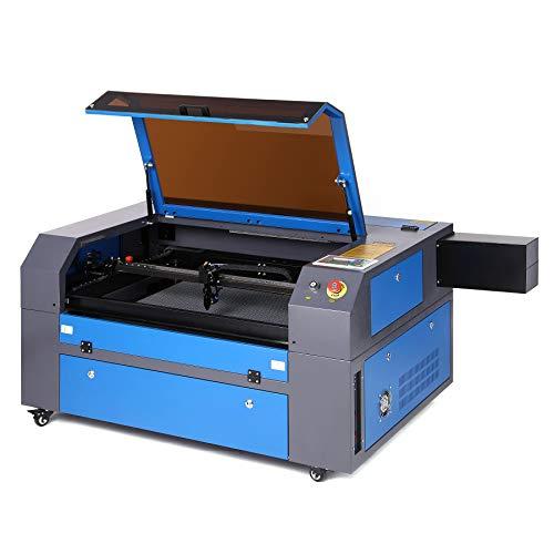 Z ZELUS 80W Máquina de Grabado Láser 500 x 700 MM Máquina de Grabador Láser de CO2 Máquina de Corte Láser LCD Digital Puerto USB, Bomba de Aire, Software RDWorks (80W)