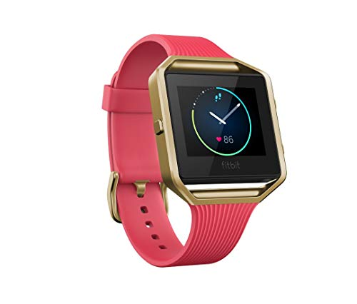 Fitbit Blaze Wireless Smart Fitness Watch Wireless Activity Tracker with Heart Rate Monitor, Black, Small (5.5-6.7 in) (Renewed)