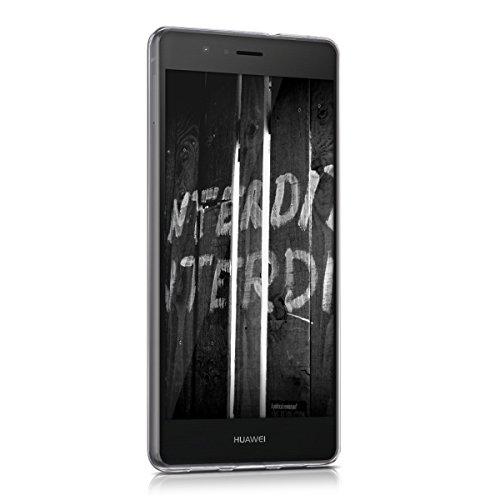 kwmobile Huawei P9 Lite Hülle - Handyhülle für Huawei P9 Lite - Handy Case in Don't Touch My Phone Design Weiß Schwarz - 2