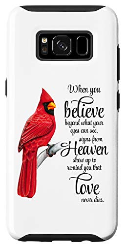 Galaxy S8 Cardinal Red Bird Sign from Heaven Angel Case