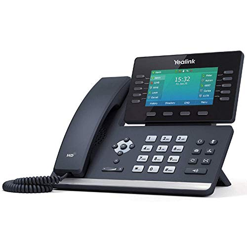 Yealink T54W IP Phone, 16 VoIP Accounts. 4.3-Inch Color Display, AC Wi-Fi, Dual-Port Gigabit Ethernet, PoE, Power Adapter Not Included (SIP-T54W) (Renewed)