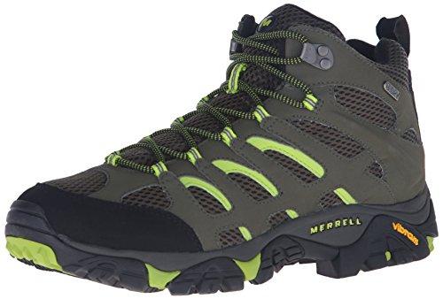 Merrell Men's Moab Mid Waterproof Hiking Boot,Earth,7 W US
