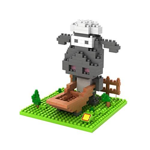 LAL6 Bloques De Construcción De Dibujos Animados Shaun Las Ovejas Ladrillos Q Edition para Niños Juguete Educativo para Los Niños De La Muñeca del Animado Niños Niñas Regalo 8.9 * 8cm