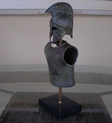 Hand Made Griego Espartano Corinthian Casco pequeño Bronce Cartucho Armor con búho–Estilo Antiguo