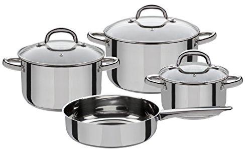 GSW 990042 Montreal – Set di 4 pezzi, in acciaio inox, argento