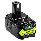 <span class='highlight'><span class='highlight'>GatoPower</span></span> 5.5Ah Battery Replacement for Ryobi 18V ONE  RB18L50 RB18L25 RB18L13 P108 P107 P122 P104 P105 P102 P103 with LED Indicator