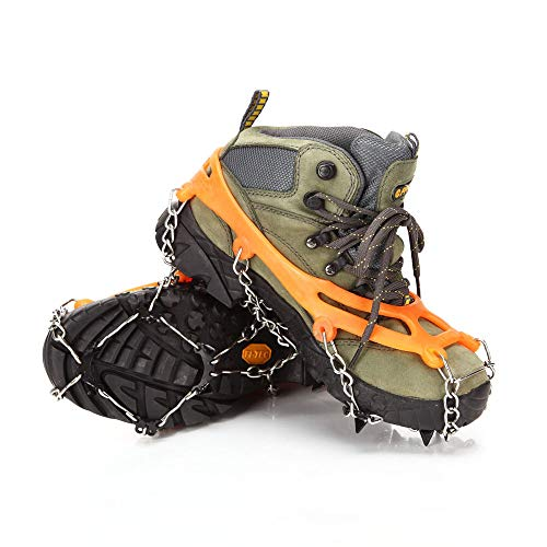 Benkeg Pinces À Neige - Pinces À Neige pour Chaussures Ice Creepers Crampons À Griffes À Griffes Anti-Dérapantes pour la Traction sur Glace Ski de Plein Air Escalade Chaussures À Neige Chaînes