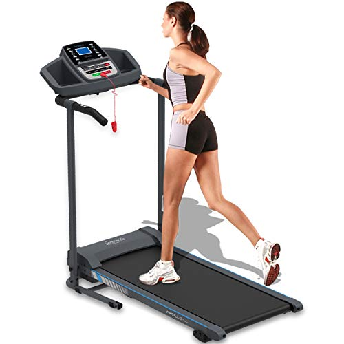 SereneLife Smart Electric Folding Treadmill – Easy Assembly Fitness Motorized Running Jogging Exercise Machine with Manual Incline Adjustment, 12 Preset Programs | SLFTRD20 Model by SereneLife