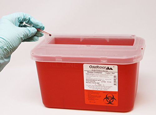 buy  Oakridge One Gallon Sharps Containers with Pop up ... Diabetes Care