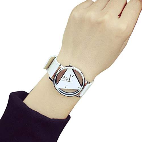 cebbay Relojes Mujeres Pas único Reloj de Moda Esfera Triangular évidé Blanco Montres connectées Mujer Pulsera