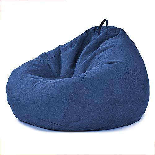 FTFTO Productos para el hogar Tela sofá Perezoso Tatami Bean Bag Cama Silla Simple Sala de Estar Dormitorio sofá Multicolor Opcional Azul 35.4 * 43.3in