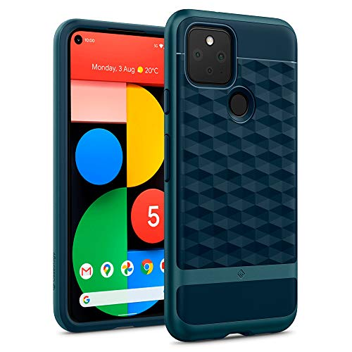Hülleology Parallax Hülle Kompatibel mit Google Pixel 5 - Aqua Green