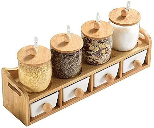 Keramische Spice Jar Set Spice Fles Spice Jar Pepper Salt Jar Keuken Opbergcontainer met kleine lepel. Kruiden potten…