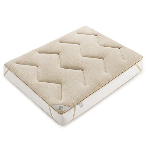 MMM- La couleur hygroscopique de chameau de matelas de polyester d'épaississement gardent le matelas individuel chaud de lit de 1.5m / 1.8m de double d'étudiant (taille : 150 * 200cm(5 feet))