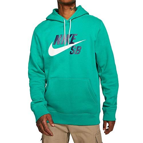 Nike Herren Sweatshirt M NK SB ICON Hoodie PO ESSNL, Neptune Green/(White), M, AJ9733