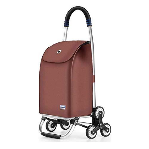 XYSoeMY 2in1 Faltbarer Einkaufswagen Leichter Sackkarre zum Einkaufen Organisieren von Einkaufswagen-Einkäufern Große, geräuschlose Räder, klappbar für den täglichen Gebrauch