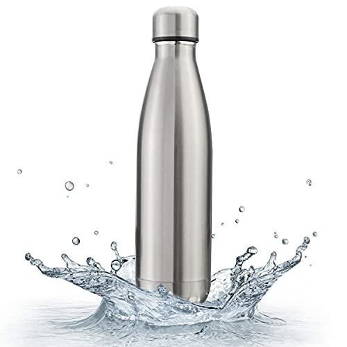 TCDPR Stainless Steel Double Walled Flask / Water Bottle, 24 Hours Hot and Cold, 1000 ml, Silver
