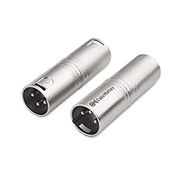Cable Matters 2-Pack XLR to XLR Gender Changer Adapter - Male to Male