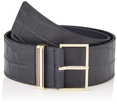 Tommy Hilfiger Damen Th Elegant Waist Belt 5.0 Gürtel, Blau (Navy Croc Dw4), Small (Herstellergröße: 85)