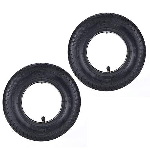 2 juegos de neumáticos y cámaras interiores con vástago de válvula curvado de repuesto para M365 Xiaomi Mijia Roller ruedas de gas, rodillo de navaja de afeitar Bladez Mobility